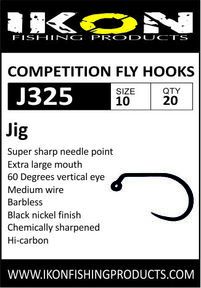 IKON Barbless fly hooks J325 #10