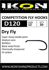 IKON Barbless fly hooks D120 #12